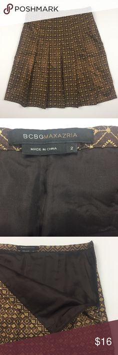 "BCBG Maxazria Skirt Size 2 Brown Shimmer Waist 14"", length 21.5"", @102 BCBGMaxAzria Skirts"