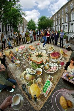 Kurt Wenner, famous for creating three-dimensional drawings and revolutionizing sidewalk art
