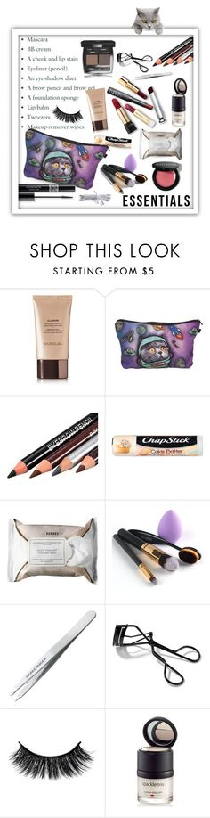 """""""Did you see my other eyelash?"""" by queenofsienna ❤ liked on Polyvore featuring beauty, Hourglass Cosmetics, Chapstick, Christian Dior, Korres, Chanel, Tweezerman, Bobbi Brown Cosmetics, Laura Geller and contestentry"""