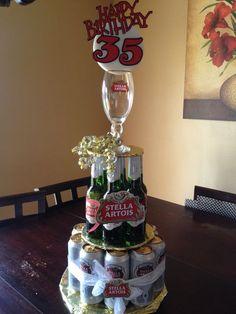 Birthday Men Beer Can Cakes 24 Best Ideas Beer Birthday Party, Diy Birthday Cake, Birthday Love, 50th Birthday Party, Birthday Gifts, Birthday Ideas, 35e Anniversaire, Stella Beer, Beer Can Cakes