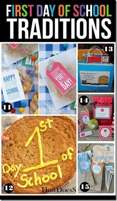 25 Back to School Traditions - There are some really clever first day of school traditions here for families! LOVE! (homeschool, back to school)