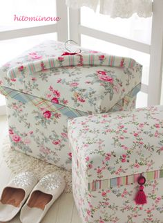 Floral Foot Stools