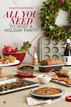 Is your wedding registry ready for the holidays? Make sure it's full of everything you need to host your first holiday party in your new home together. Register now for quality cookware that not only heats evenly but looks nice on your stovetop like an Anolon Advanced bronze 12-piece set. Plus, don't forget about dessert and pick a complete baking set that's nonstick for easy cleanup like a 5-piece Anolon set. Find it all at macys.com.