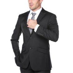 Renoir Men's Dark Navy Classic Fit Italian Styled Two Piece Suit, Size: 36R, Blue