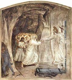 Fra Angelico - Fra Angélico, fresco de las celdas de San Marcos. Cristo alcanza a Adán para rescatarlo del Infierno. c.1440