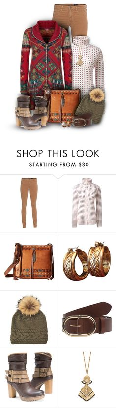 """""""Long Red Background Ivko Cardigan"""" by franceseattle ❤ liked on Polyvore featuring AG Adriano Goldschmied, Lands' End, American West, Oscar de la Renta, Inverni, Trilogy, Frame and Etro"""