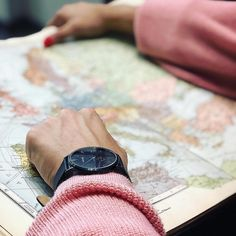 The only rule of travel is: don't come back the way you went. Come back changed (Anne Carson). Customer photo by Carriage Clocks, Globes, Italian Leather, Travel Style, Maps, Modern Design, Aesthetics, Minimalist, Watches