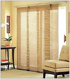 sliding glass i could so do this with bambo shades