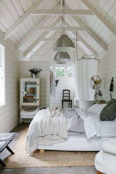 Gorgeous white bedroom scheme