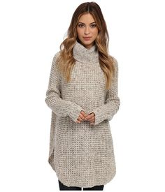 Free People textured knit sweater with an oversize silhouette and a cozy turtleneck. #causal #fashion #favorites