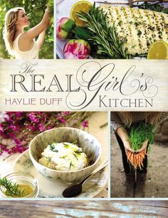 """Though she is best known as an actress, Haylie Duff feels quite at home in her kitchen. When she started serving up easy and elegant recipes, kitchen tips, and entertaining advice on her blog, Real Girl's Kitchen, the site quickly grew into a destination. Now everyone's favorite recipes—along with dozens of new dishes—are available in a gorgeous, hand-held volume. The Real Girl's Kitchen covers it all: breakfasts, salads, soups, appetizers, snacks . . . even recipes for your """"cheat days""""!"""