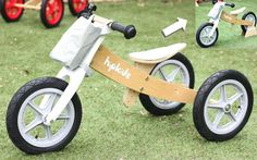 2 in 1 Wooden Trike/Balance Bike