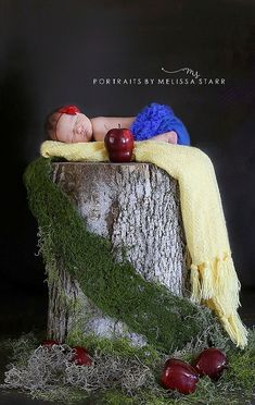 Snow White newborn girl photography session You could do this with any of the princesses