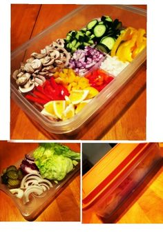Prep salad and sandwich ingredients ahead of time and encourage healthy snacking and more salads