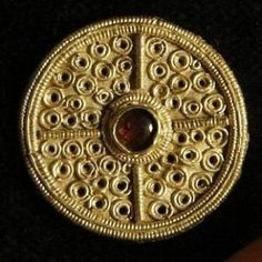 Gold and garnet brooch from the Staffordshire Hoard