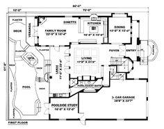 First Floor Plan of Florida   Italian   Mediterranean   House Plan 60426