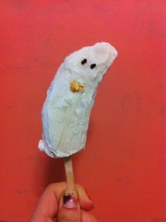 BOO! Don't worry, it's just a friendly, brain-boosting banana ghost. Mildly sweet and loaded with potassium, this is the perfect treat for a spooky study break.