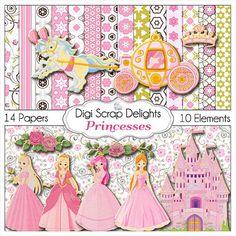 Princesses Digital Scrapbook Kit w Princess by DigiScrapDelights