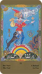 Fool from the Kazanlar Tarot at TarotAdvice Tarot Reading, Tarot Decks, Tarot Cards, The Fool, Art Gallery, Popular, Happy, Image, Tarot Card Decks