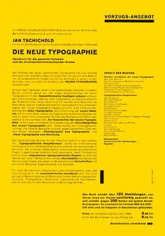 Die Neue Typographie back cover by Jan . Page Layout Design, Book Design, Design Art, Print Design, Poster Layout, Print Layout, Book Layout, Editorial Layout, Editorial Design