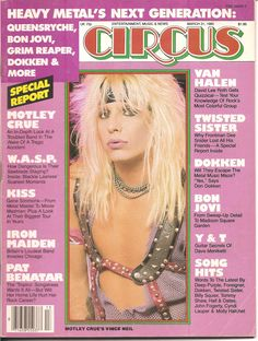 I used to beg my mom to buy this when we'd go grocery shopping! Circus Magazine - March 31, 1985 - Motley Crue's Vince Neil
