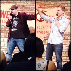 That's ATB and Soren on our stand-up show at Westside Comedy! They did not vaguely high-five IRL. #UnpopularOpinion