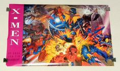 1994 Marvel Comics 34 x 22 X-Men poster 174:Rogue, Gambit, Wolverine, Psylocke, Sabertooth, Storm, Bishop, Beast, Iceman, Professor X, Angel