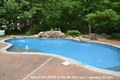 Hybrid pool with many water features all custom.