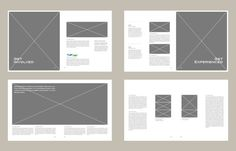 graphic design portfolio layout inspiration - Google Search