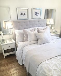 If you need ideas for grey bedroom decoration, this topic is for you. Gray provides a dramatic and elegant effect for bedroom decoration. Master Bedroom Design, Home Decor Bedroom, Bedroom Ideas, New Room, Decoration, Interior Design, Bedroom Inspiration, Design Inspiration, Light Gray Bedroom