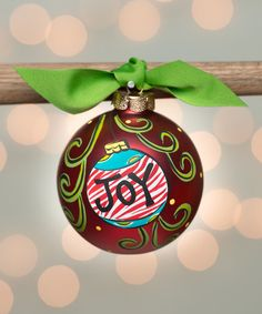 Loving this Joy Ornament Personalized Ornament on #zulily! #zulilyfinds