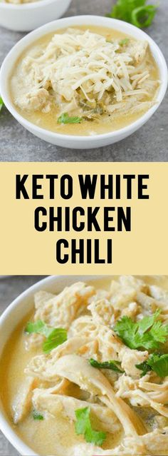 Awesome This Keto White Chicken Chili is an amazing comfort food for the changing seasons. It's filling, tasty and can easily be a crockpot/freezer meal! The post KETO WHITE CHICKEN CHILI appeared first on MIkas Recipes . Ketogenic Recipes, Low Carb Recipes, Diet Recipes, Healthy Recipes, Ketogenic Diet, Recipies, Keto Foods, Keto Meal, Eat Healthy