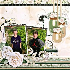 Garden Party Scrapbook Page featuring Mixed Media for BoBunny designed by Rhonda Van Ginkel