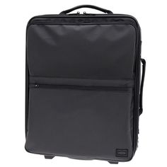 Porter Browse  Trolley / Carry Case. Ref : 851-06217.  Size : W370XH440XD180.  Color : Black / Navy / Grey.  Material : Outside: Polyester ox (PVC finish).  Inside: High-density polyester ox (urethane coating).  Part: Cow steerhide leather (water repellent finish)
