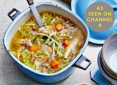 RECIPE FROM THE ART OF EATING WELL. AVAILABLE FROM: AMAZON | WATERSTONES | HIVE How To 1. In a large saucepan, cover the chicken with filtered water (approximately 3 litres) and slowly poach on a medium heat until the chicken is cooked through