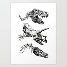 Jurassic Bloom. Art Print
