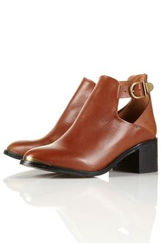 acton metal buckle side boots, topshop $156