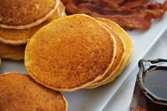 PALEO SWEET POTATO PANCAKES. Wanna give this recipe a shot? - http://paleoaholic.com/paleo/paleo-sweet-potato-pancakes/