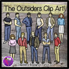 The+Outsiders+Clip+Art+-+Color+&+black+line+from+Graphics+Resource+Force+on+TeachersNotebook.com+-++(22+pages)++-+Get+your+hands+on+some+clip+art+of+The+Outsiders,+great+for+your+teaching+resources+and+bulletin+boards!