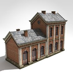 3D Model Old Style Factory - 3D Model