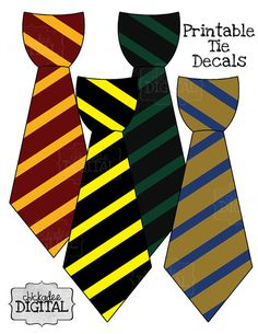 4 Wizard Stripes Printable DIY Iron On Tie Decal, baby boys, toddler boys, Iron on tie for bodysuits and tshirts