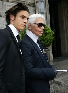 Karl Lagerfeld and his new muse spotted out in Berlin, Germany. Berlin  Germany, 774acb7a3fdd
