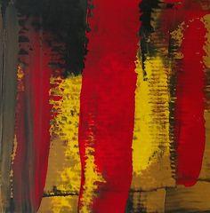 JLMoraisArq, Abstrata, oil on paper 8x8 cm, catálogo: AbstOilPap28317MartiusXVII. estratigráfica: camadas de tinta sobrepostas, aplicadas em bandas verticais e horizontais, esfregadas, borradas e raspadas; acabamento da superfície: textura lisa. Instrumento: espátula.