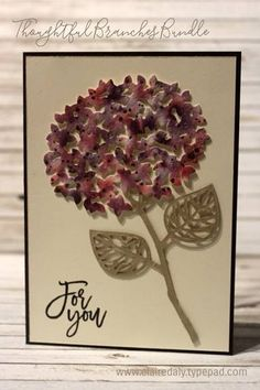 Thoughtful Branches Stampin Up watercolor hydrangea by Claire Daly Stampin Up! Demonstrator Melbourne Australia