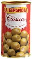 Spanish Anchovy-stuffed olives 350 g  La Española.The olive and anchovy combination is both tasty and surprising, and makes a perfect partner for wines such as sherry fino or manzanilla or other drinks such as beer. Anchovy-stuffed olives are frequently served as tapas in bars throughout Spain. €3.00