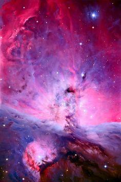 Orion Bulutsusu'nun yüksek çözünürlükteki fotoğrafı.