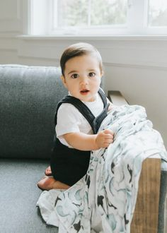 Knit Swaddle Blanket - Kai Little Boy Outfits, Little Boy Fashion, Baby Boy Fashion, Little Boys, Receiving Blankets, Swaddle Blanket, Gifts For New Moms, Baby Accessories, Cute Boys