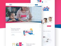 Here's a look at one of many homepage iterations we designed for one of the biggest daycare centres in Europe. The main goal was to keep things simple and playful, as it suits the niche.  Press ♥ f...