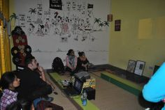 """A perspective building session with students from North Campus as a part of """"We For Yamuna"""" watching the movie 'Jijivisha'"""