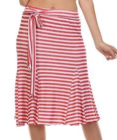 Love this Red Stripe Trumpet Skirt on #zulily! #zulilyfinds